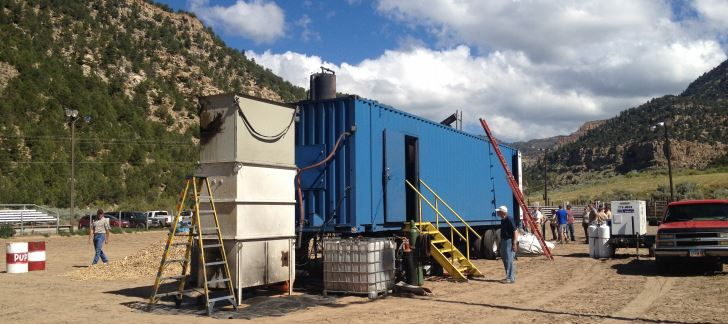 Figure 6. The Amaron Energy Rotary Pyrolysis Reactor in a field setting | Photo credit: Darren McAvoy