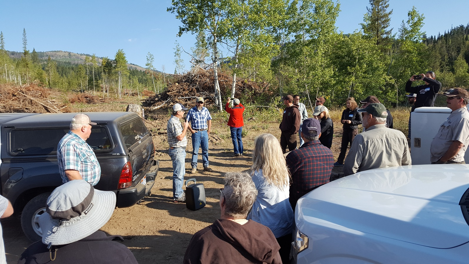 Forestry Practices Tour Group